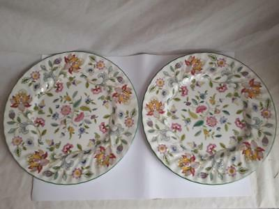 Minton Haddon Hall 2 x Dinner Plates - 10 5/8 inch -1st Quality Free Uk Delivery