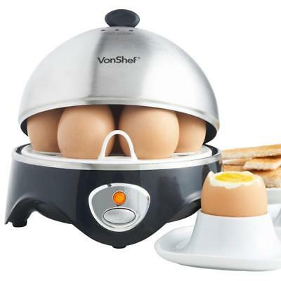 Home QUICK EGG BOILER Steam Prevents Cracking Overcooking Stainless Steel Plate