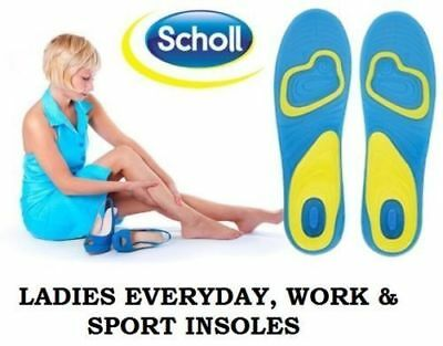 Scholl Gel Insoles Work Walking Sport Comfort Shock Absorption  Men Women Size
