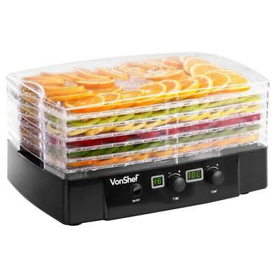 6-TIER FOOD DEHYDRATOR Digital Temperature Thermostat Dishwasher Safe Easy Clean