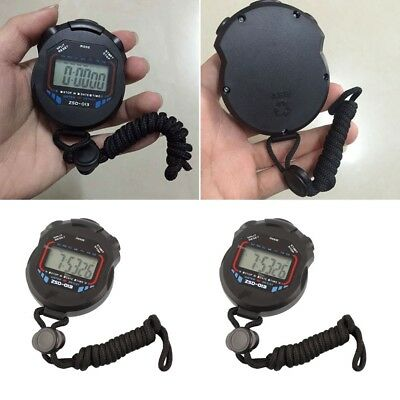 Digital LCD Stopwatch Running Sport Timer Counter Chronograph Stop Watch Alarmx1