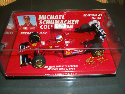 Michael Schumacher 1/43 1996 My Ist Win With Ferrari by Minichamps.Very rare !