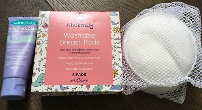 40ml Lansinoh Nipple Cream and 14 Washable Boots Breast Pads