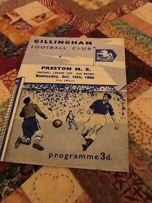 60/61 Gillingham V Preston League Cup