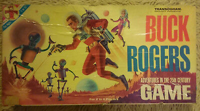 Vintage 1965 Transogram Buck Rogers Adventures In The 25Th Century Board Game