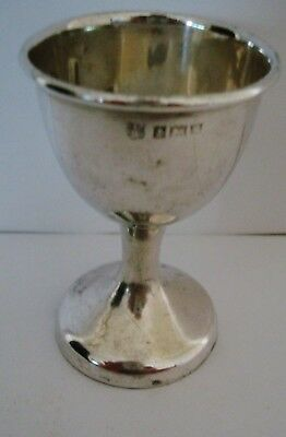 Vintage Good Solid Silver Egg Cup By Barker Bros Ltd Birm 1959 22.6 Grams