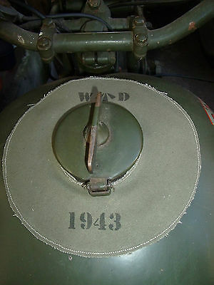 WW2 Motorcycle Petrol Tank Protective Spill Pad - BSA ,Norton, Matchless ,Ariel.
