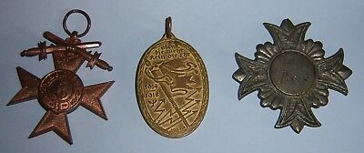GERMAN - Small Collection of 3 Medals. Bayer MVK, Kyffhauser & Vets. Prize 1894