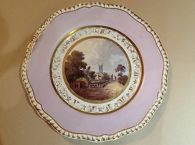 Spode Named View Plate Prittlewell C1820