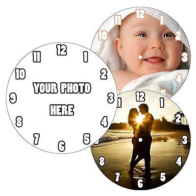 Personalised Custom Wall Clock Own Image Photo Design Picture Company Logo Gift