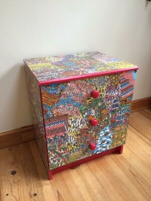 Where's Wally Bedroom Furniture. Chest of drawers/bedside table multicoloured.