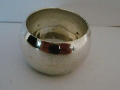Vintage Good Solid Silver Napkin Ring Un-Engraved Birm 1926 A Heavy 32.4 Grams