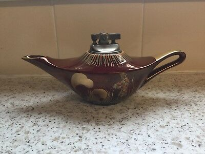 "Carlton Ware ""Rouge Royale"" Aladdin's Lamp Style Table Lighter."
