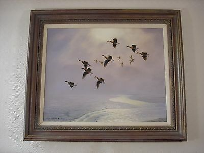 Wildfowl Oil Painting on Canvas - Ian Phipps -  Gilt and Paint-washed Frame