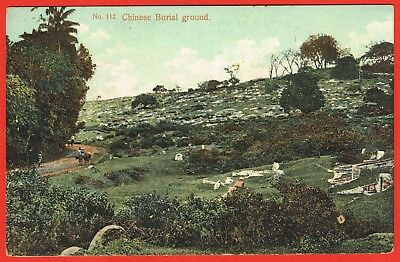 Penang 1910s multi-coloured p/card Chinese burial ground
