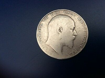 King Edward pre 1920 silver half crown.