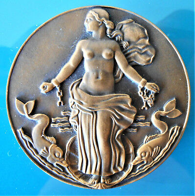 France-1950-Ss Liberte -Le Havre New York Oceanliner-Superb Bronze Art Deco