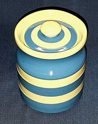 Cornishware,T G Green & Co Ltd, Blue & White small Storage Jar