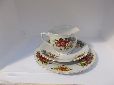 Royal Norfolk Country Roses tea trio (cup saucer & plate)
