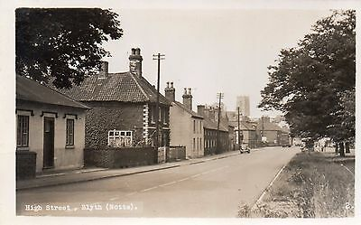 blyth notts superb postcard of main street around 1950s real photo in superb con