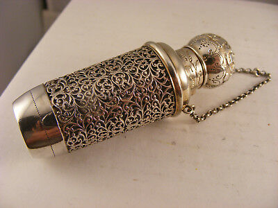 French scent bottle in Solid Silver holder