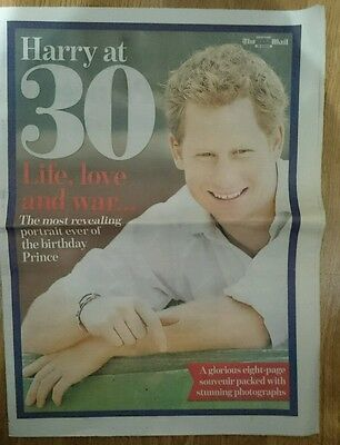 The Scottish Mail Souvenir 8 Page Pull Out on Prince Harry at 30