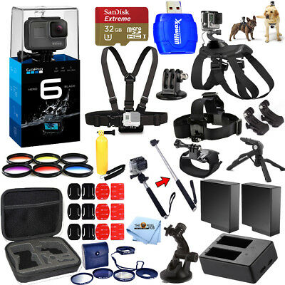 GoPro HERO6 Black All In 1 MEGA Accessory KIT Bundle For All Occasions!! NEW!!