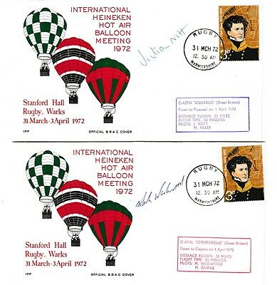 Collection of 6 x Balloon covers, meetings & race 1972 inc. GWR open day..
