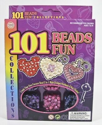 101 Beads Of Fun Kids Crafts Key Chain And Pendant Bead Kit Arts And Crafts