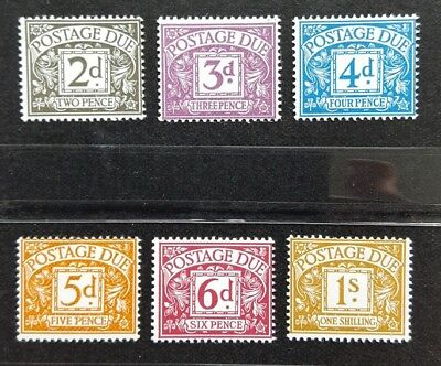 Gb 1968-69 Mnh Postage Due Set Of 6 - No Watermarks - Sg D69-74
