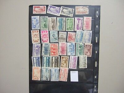 Thirty five old different SYRIA stamps