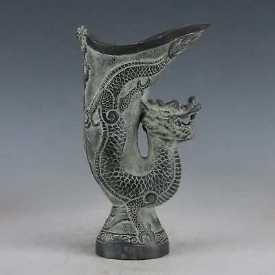 Exquisite Bronze Ancient Chinese Court Dragon Wine Cup QT0017