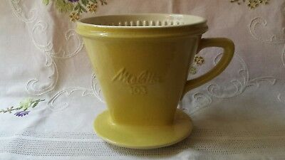 alter Melitta Filter 103 pastell gelb