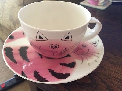 Dunoon large fine bone china cool cat cup and saucer