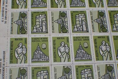 Special Collector  Full Sheet St Joseph Oratory Of Mount Royal Montreal Canada