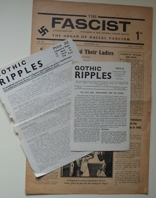 FASCIST  - GOTHIC RIPPLES  - ARNOLD LEESE 1940/50s -  Not Mosley BUF UM NF BNP