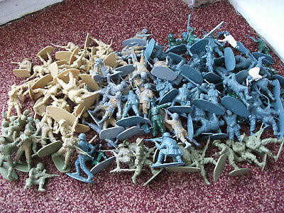 Job Lot Of 115 Airfix Toy Soldiers With Boxes 1.32 Scale British American German