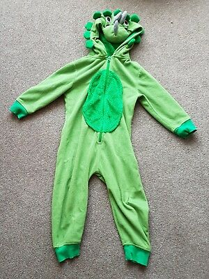 NEXT kids DINOSAUR FANCY DRESS ONESIE PARTY KIDS COSTUME 3-4 YRS