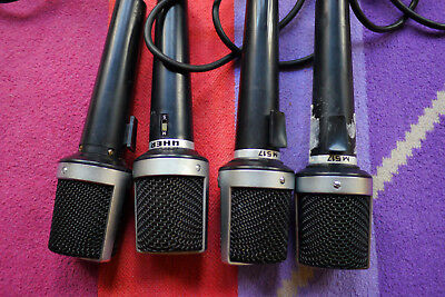 4x Vintage 60's UHER M517 Microphone Made in Germany