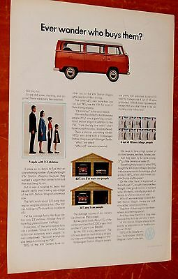 Red 1962 Volkswagen Van Combi Who Buys Them Ad - Vintage Vw Bus 60S Transporter