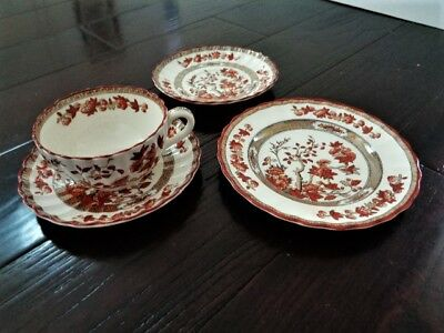 Copeland Spode India Tree Cup 2 Saucers Small Plate Old Mark