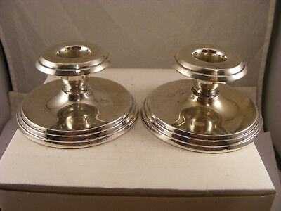 pair of solid silver Norwegian candle sticks