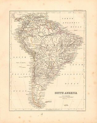 1868  Antique Map - South America