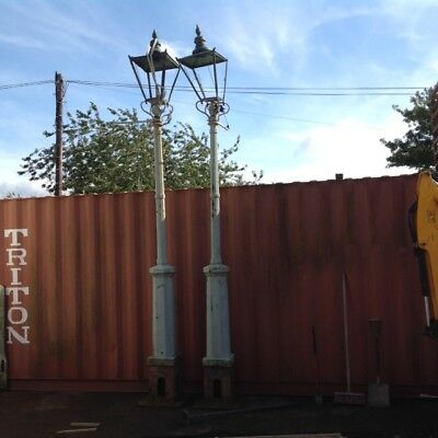 Antique Victorian Outdoor Outside Gas Lamps - Selling as a Pair. Height 3.5m