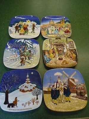 Beswick Christmas in country  Plaques , plates x Six limited editions.Excellent