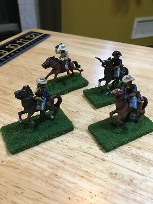 (4) 25-28mm Old West ACW US Cavalry painted miniatures Metal Detailed Lot 2