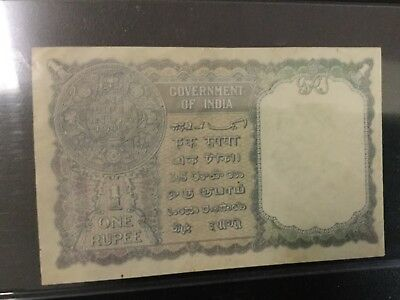 1940 India Paper Money - One Rupee Banknote !