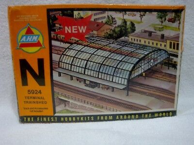 A.H.N. ~ N-Scale Building Kit ~ #5924 Terminal Trainshed ~ New