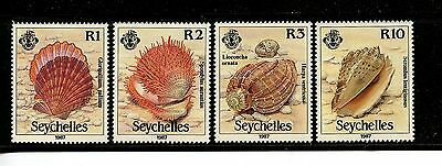 Seychelles #614-617 (SE779) Complete 1987 Sea Shells issue, MNH, VF