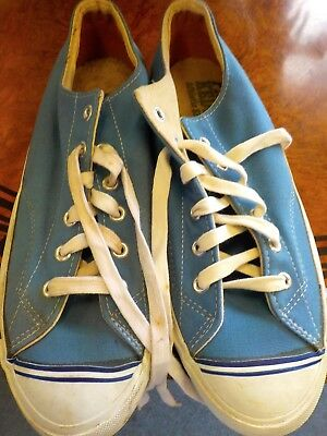 Vintage (Nos) 1960's 70's Low Top Pro-Keds/ 11 1/2 M Carolina Blue
